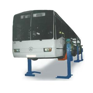Подъемник для автобусов и сцепок шестистоечный электромеханический на 30т ПП-30 по ТЗ