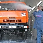 Пост мойки грузовых автомобилей и автобусов